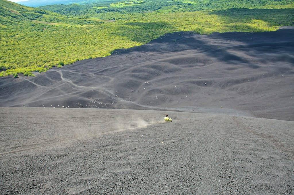 Board Down the Cerro Negro Volcano in Nicaragua