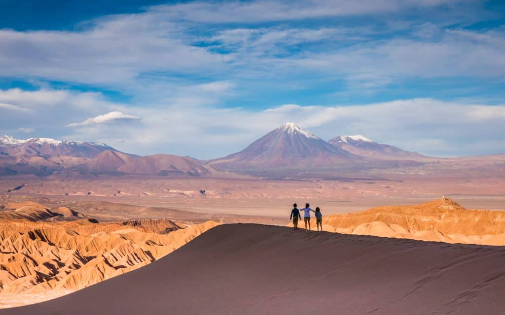Family Travel Inspiration - Walking on dunes in the Chile's Atacama Desert