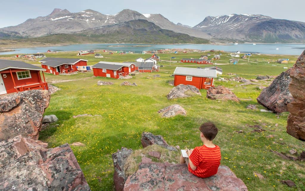 Family Travel Inspiration - Sketching in Igaliku, Greenland