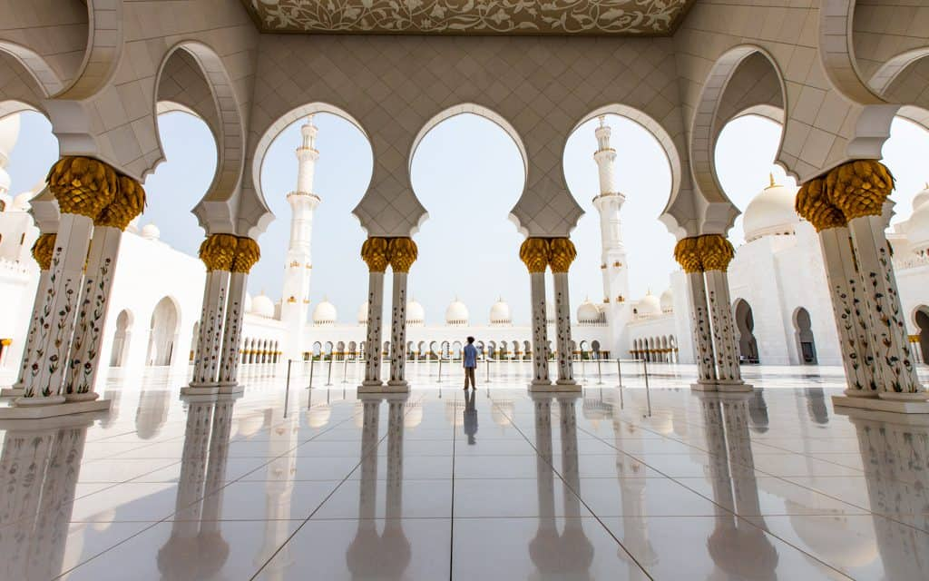 Family Travel Inspiration - At Abu Dhabi's Sheikh Zayed Grand Mosque