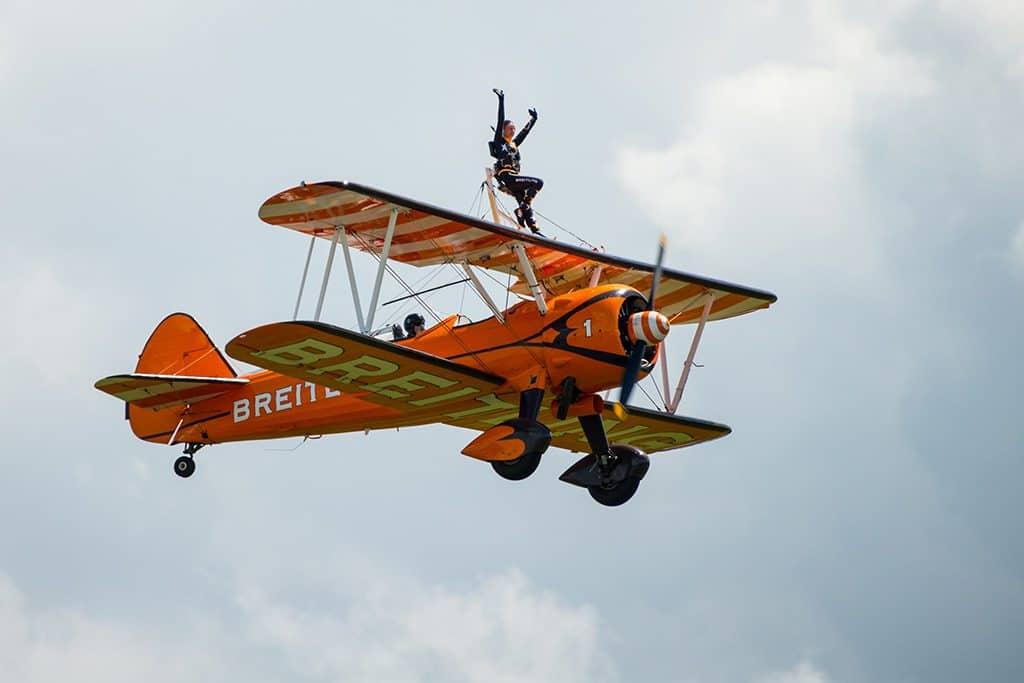Walk on the Wings of an Airplane in Essex, U.K.