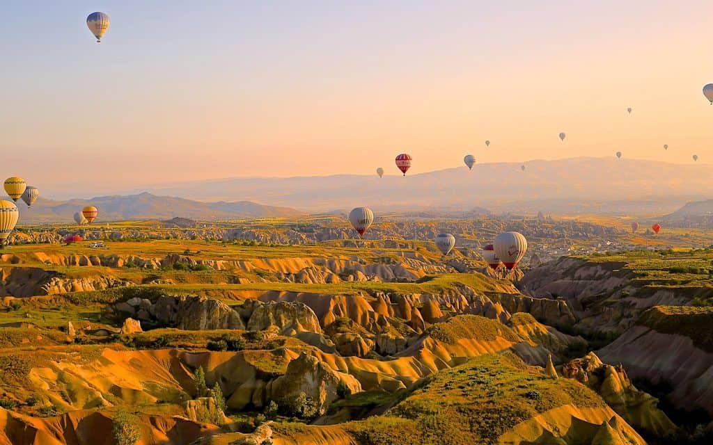 Hot Air Ballooning over Cappadocia, Turkey is a must-try bucket list idea