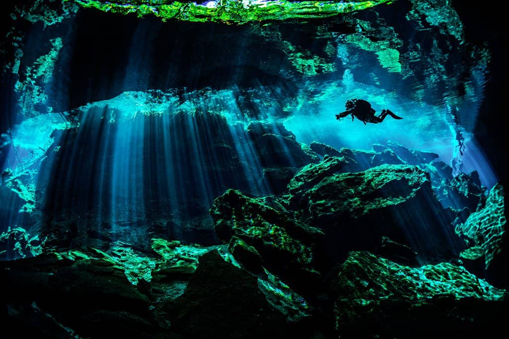 Cave Dive in Mexico's Yucatán Peninsula