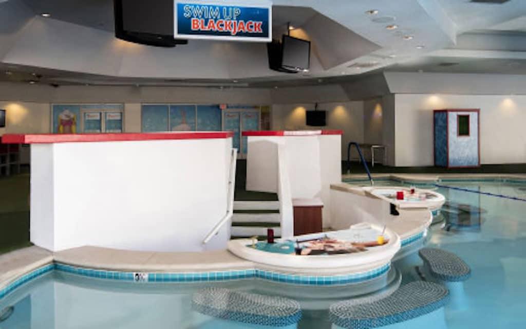 Swim-up bar at Tropicana