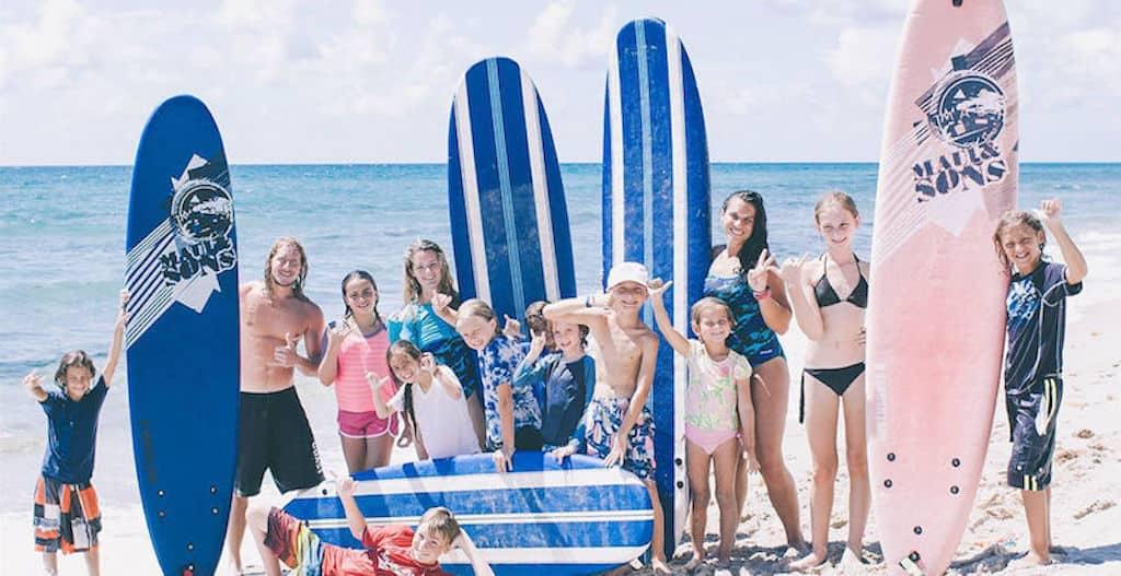 Aquanuts surf class at Eau Palm Beach