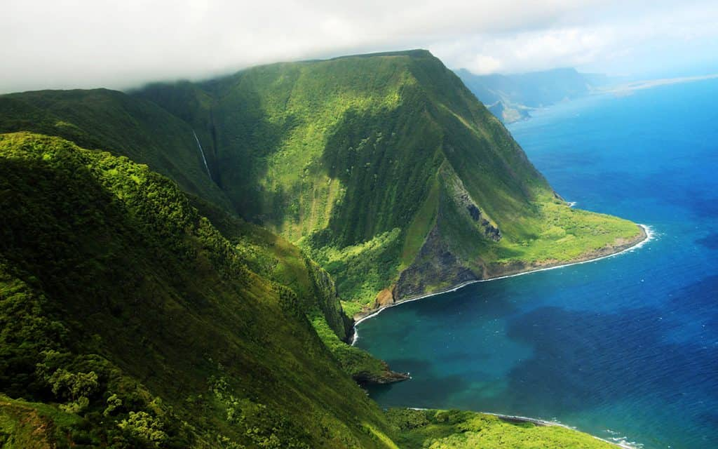 Molokai sea coast