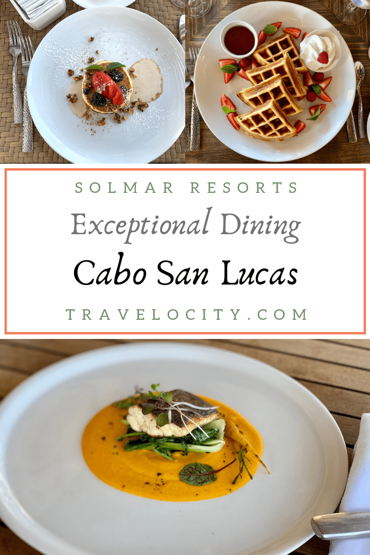 Grand Solmar Resorts in Cabo San Lucas offers 21 places to dine, giving guests choices of sophisticated upscale restaurants to small bites with ocean views. #SolmarResorts #LosCabos #CaboMexico