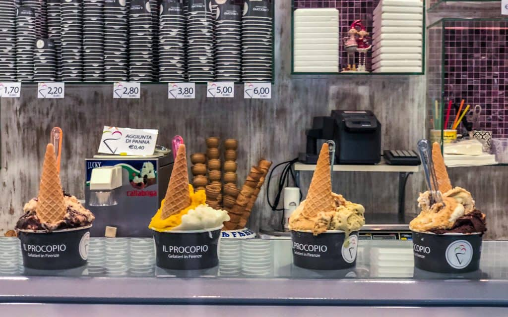 Tips for hot days - Morning gelato in Florence!