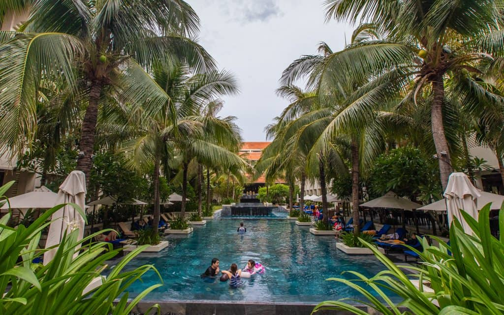 Hot days - This pool, at Vietnam's Almanity Hoi An Wellness Resort, felt bizarrely good on 100-degree days!