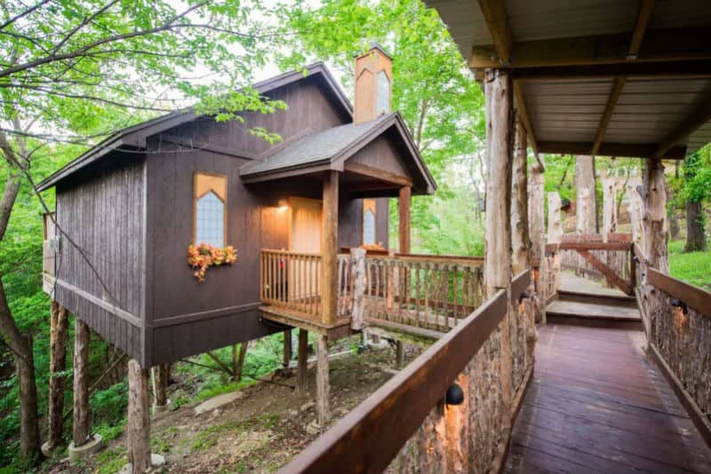 Arkansas, treehouse, glamping