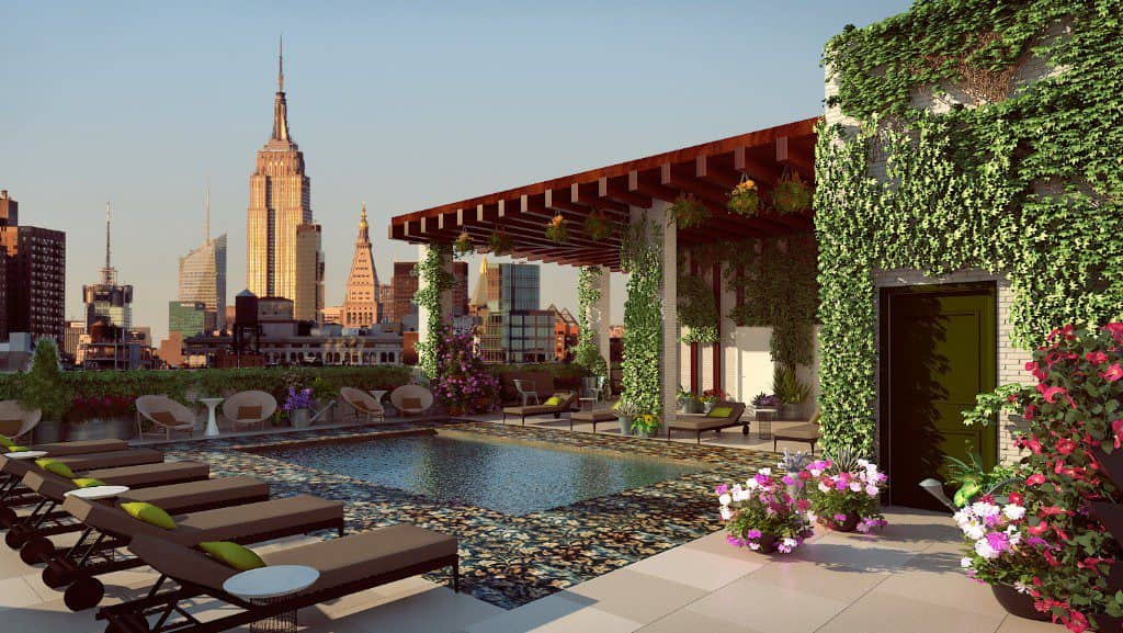 Rennaisance New York Chelsea Hotel, NYC, rooftop pool