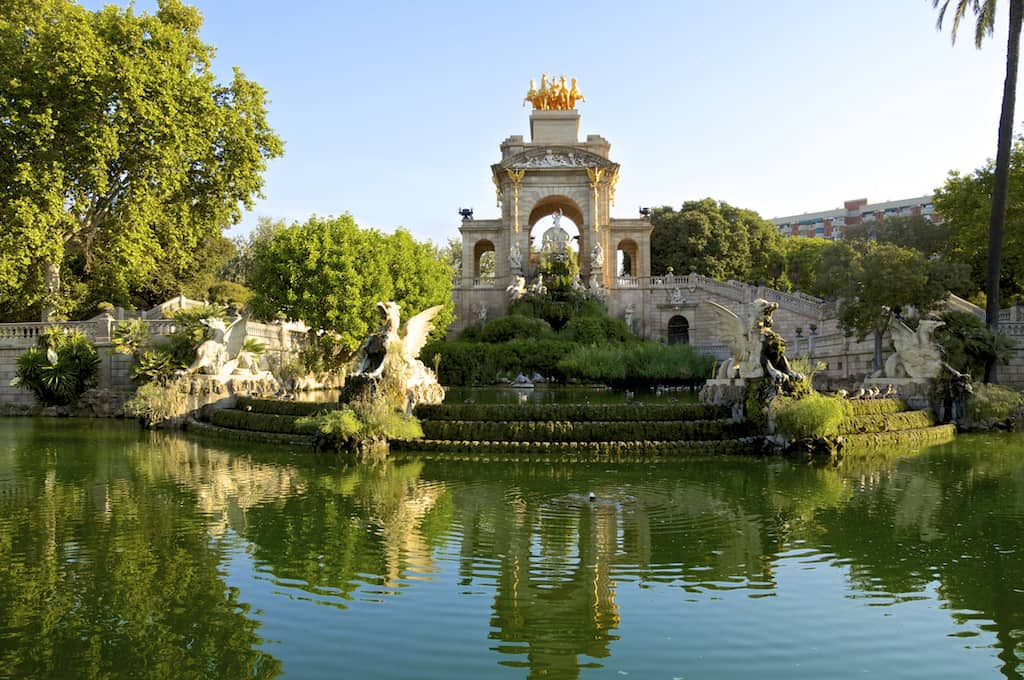 The Parc de la Ciutadella, established during the mid-19th century, located in the heart of Barcelona, has a very beautiful garden landscape