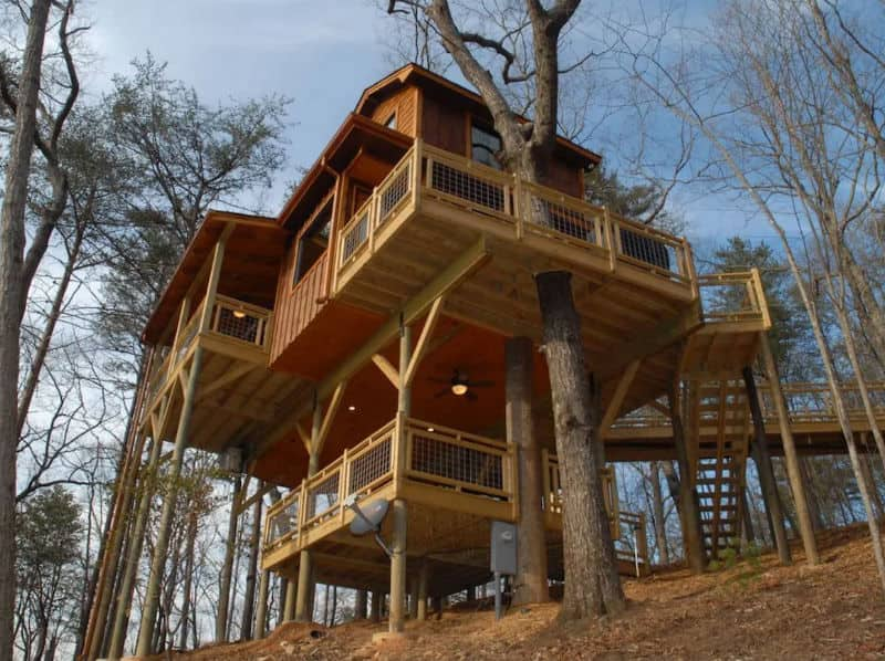 Georgia, glamping, tree house