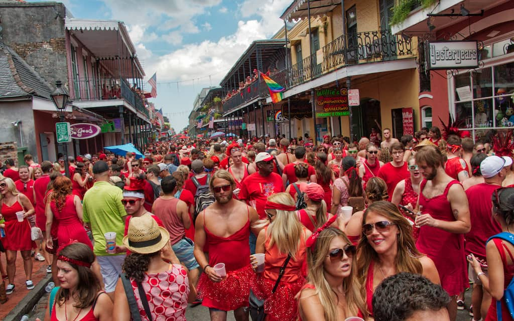 Red Dress run in New Orleans by Mike Shubic of MikesRoadTrip.com