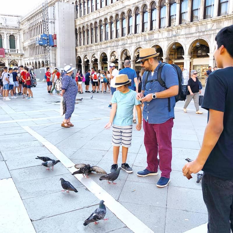 Feeding birds for national do something nice day