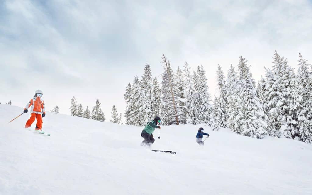 Kids ski Vail mountain