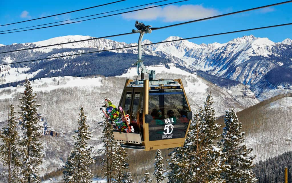 View of Vail from Vail Gondola Winter