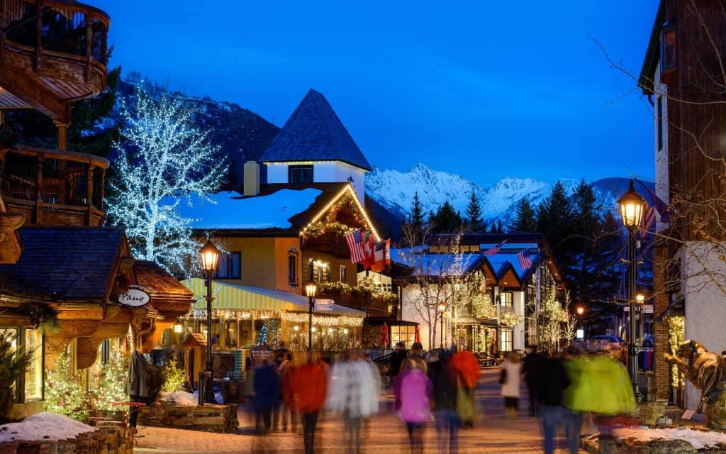 Vail Village Colorado time lapse winter
