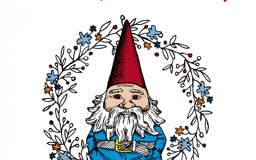 """A Roaming Gnome Holiday"" coloring book"