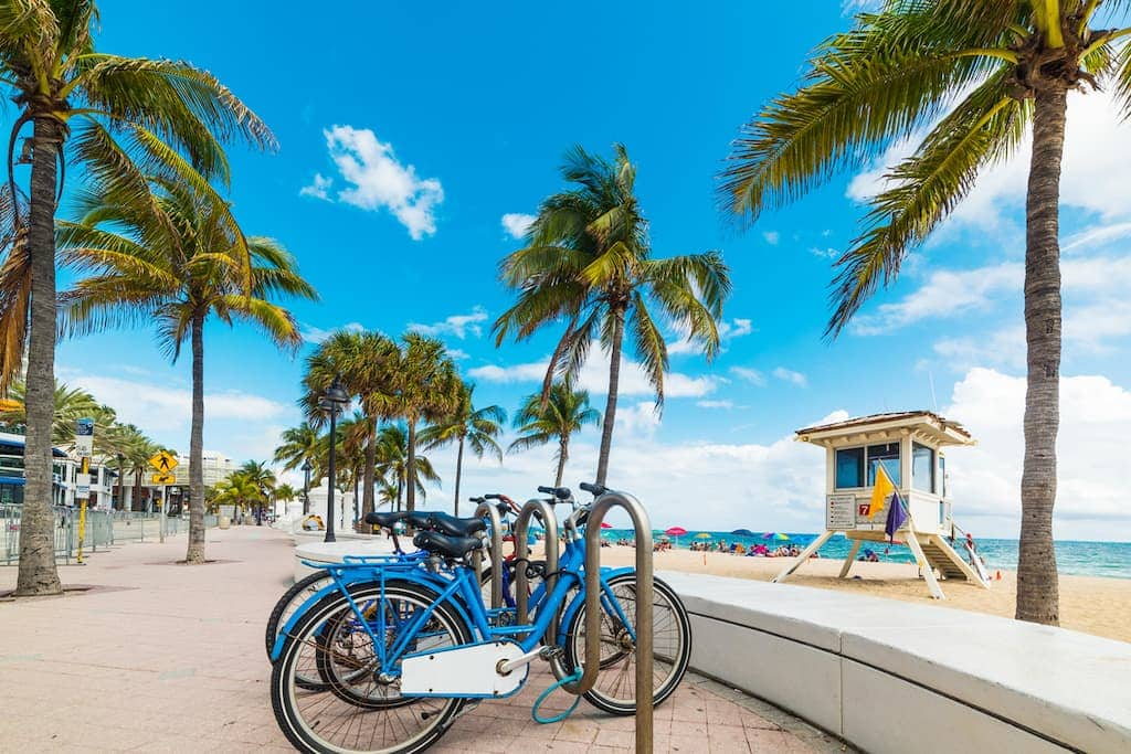 Bikes on Miami Beach