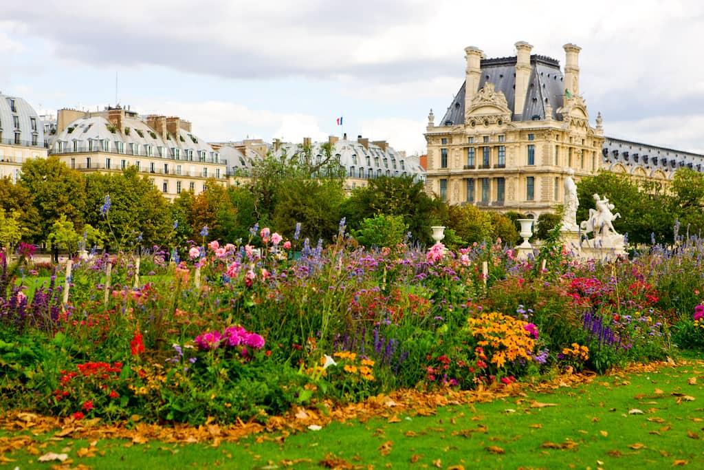 Paris park next to the Louvre