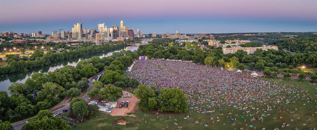 Music fest in Austin, Texas