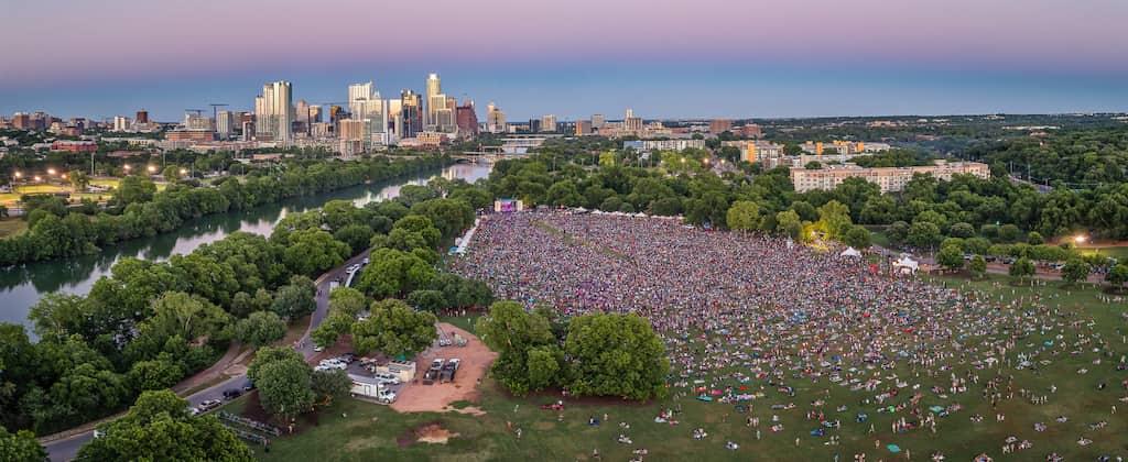Music fest in Austin, Texas