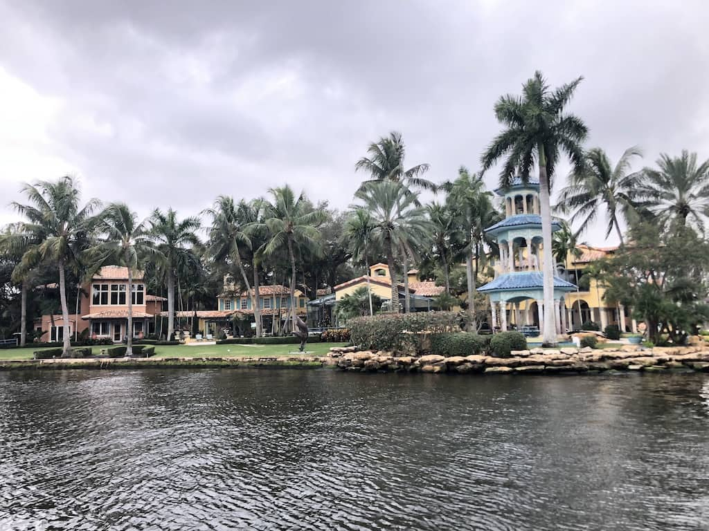 Views of Millionaires' Row mansion, as seen from the Water Taxi