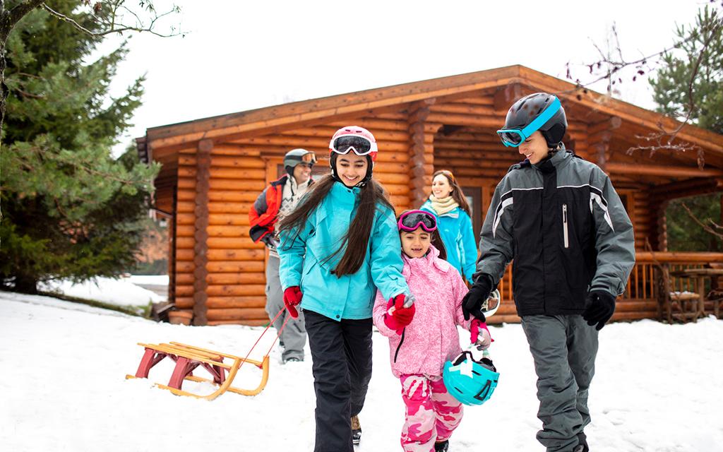 6 vacation rentals set in winter wonderlands