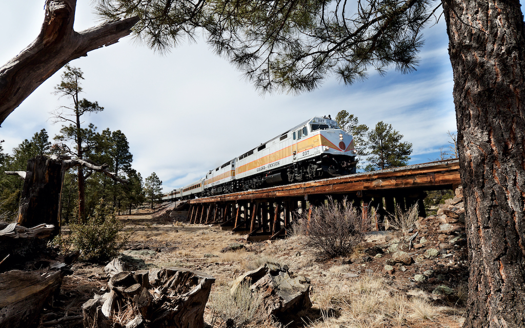 Grand Canyon Railway one of the best US train trips.