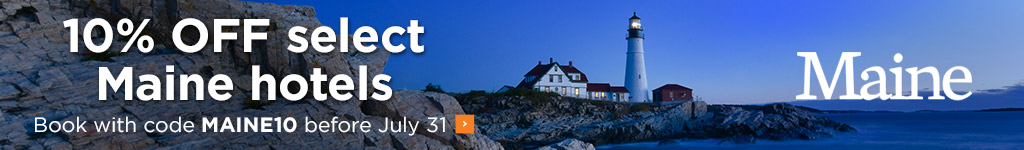 Maine hotel 10% off offer