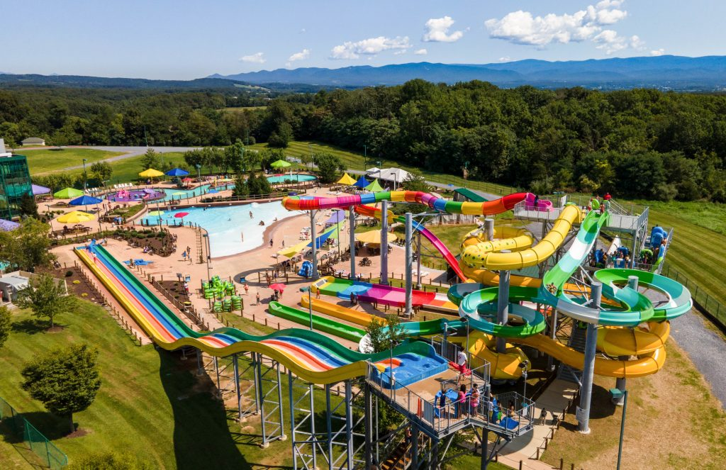 View of the water park at the Massanutten Resort