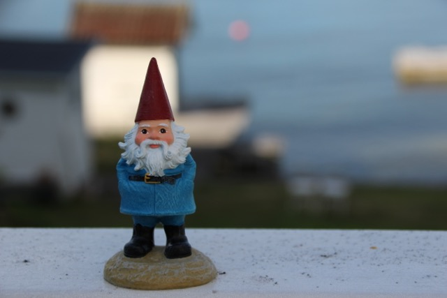 Utopia in Vaxholm, Sweden, gnome, traveloctiy