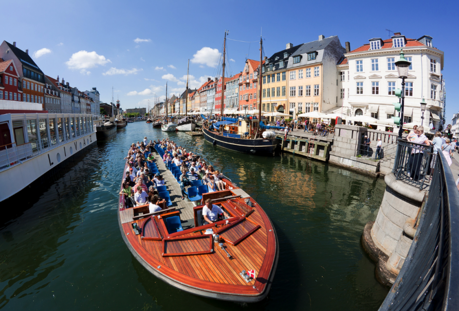 Canal boat tour near Nyhavn, Copenhagen, Denmark, Things to do in Copenhagen, Denmark