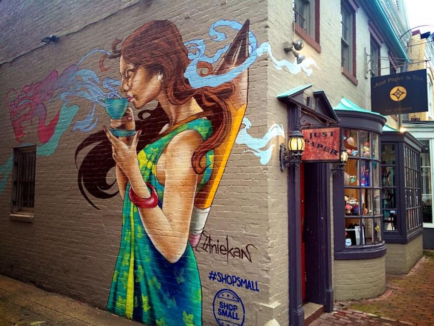 Georgetown Washington DC mural