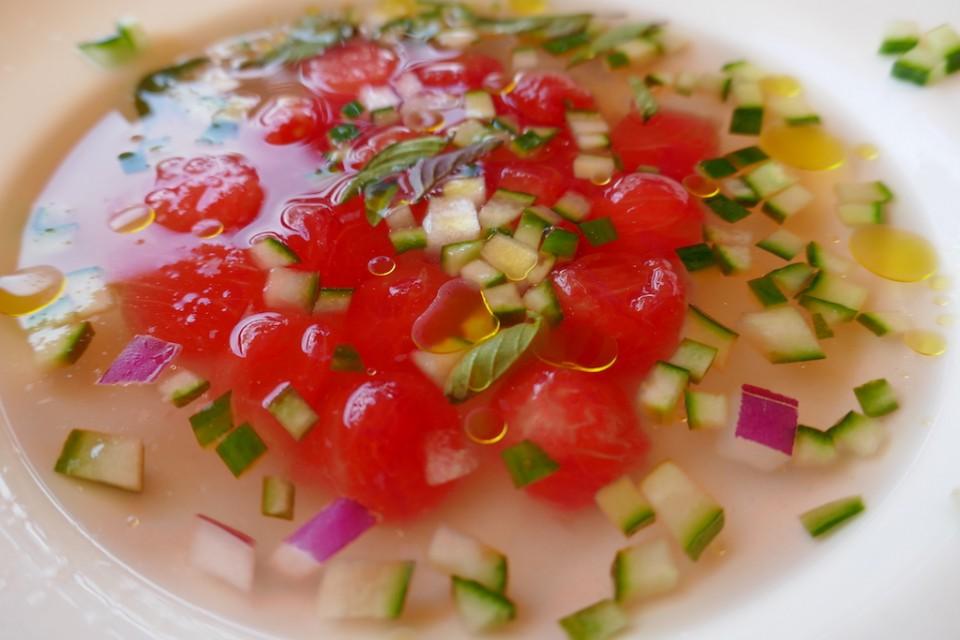 watermelon gazpacho by Susan Lanier-Graham