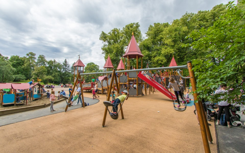 Oslo with kids - The playground at Frogner Park