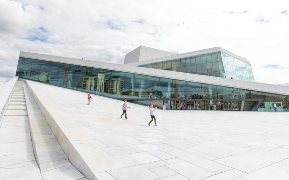 Oslo with kids - Playing at the Oslo Opera House