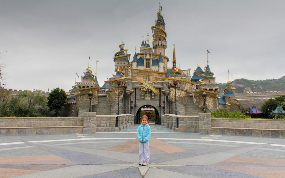 An empty Hong Kong Disneyland