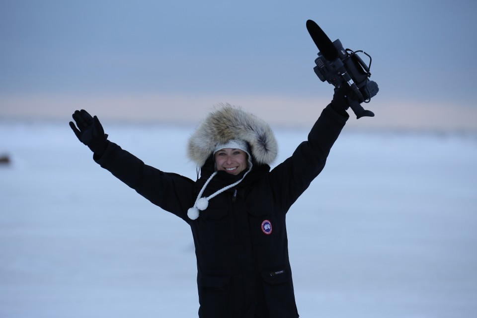 Julia Filming the Arctic