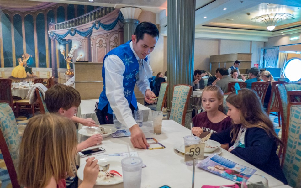 Disney Cruise - Post-dinner tricks at Lumiere's aboard the Disney Magic