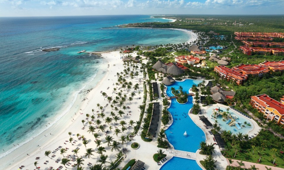 View From The Barcelo Maya Caribe Mexican Riviera