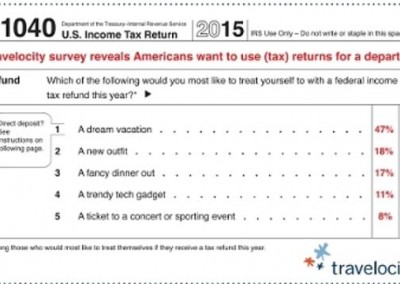Travelocity Survey Reveals Americans Want to Use (Tax) Returns for a Departure